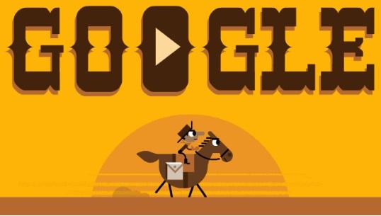 155th Anniversary of the Pony Express - дудл-игра от Google