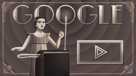 105 years since the birth of Clara Rockmore - дудл-игра от Google